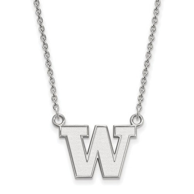 Washington Huskies Sterling Silver Pendant Necklace