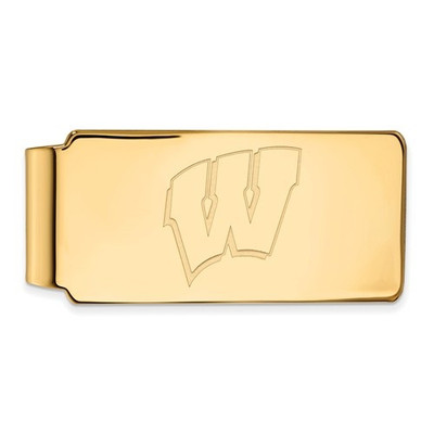 Wisconsin Badgers 14K Gold WV Money Clip