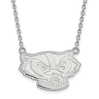 Wisconsin Badgers Sterling Silver Pendant Necklace