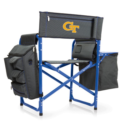 Georgia Tech Yellow Jackets Fusion Tailgating Chair | Picnic Time | 807-00-639-194-0