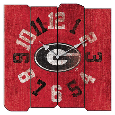 Georgia Bulldogs Vintage Square Wall Clock