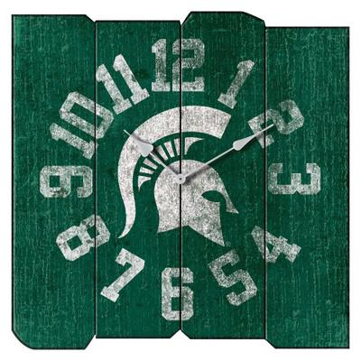 MSU Spartans Vintage Square Wall Clock
