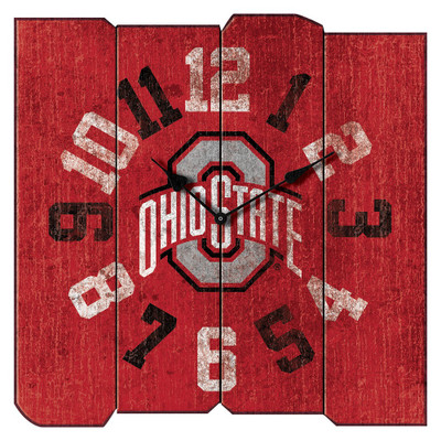 Ohio State Buckeyes Vintage Square Wall Clock