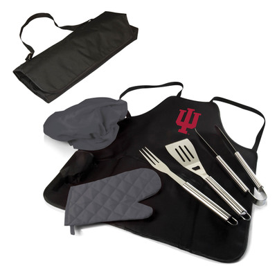 Indiana Hoosiers BBQ Apron Tote Set