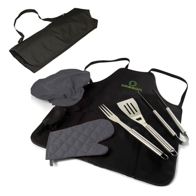 Oregon Ducks BBQ Apron Tote Set