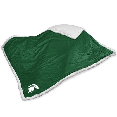 MSU Spartans Embroidered Sherpa Throw Blanket