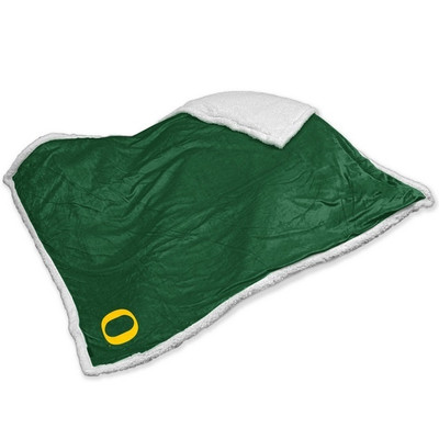 Oregon Ducks Embroidered Sherpa Throw Blanket