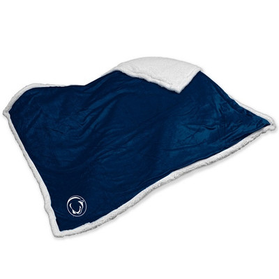 Penn State Nittany Lions Embroidered Sherpa Throw Blanket