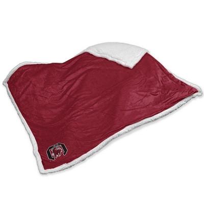 South Carolina Gamecocks Embroidered Sherpa Throw Blanket