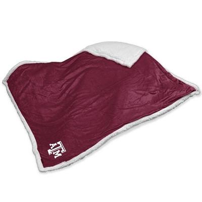 Texas A&M Aggies Embroidered Sherpa Throw Blanket | Logo Chair | 219-24