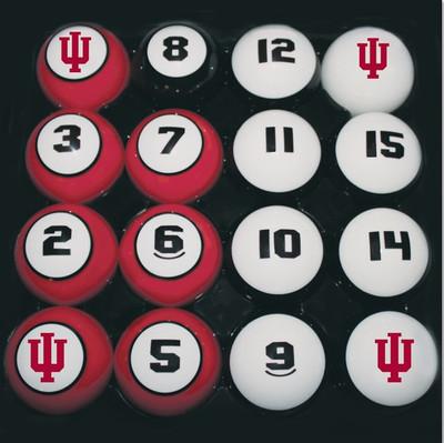 Indiana Hoosiers Billiard Pool Ball Set