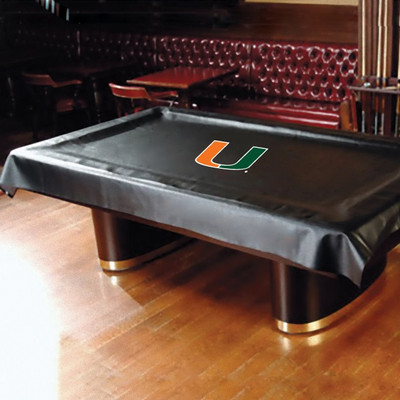 Miami Hurricanes Pool Table Cover