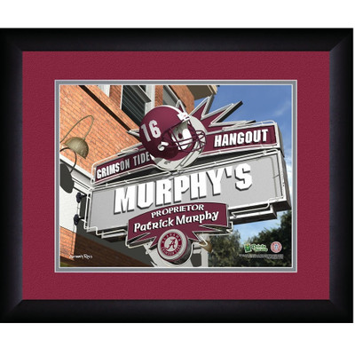 Alabama Crimson Tide Personalized Pub Print