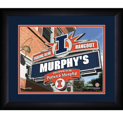 Illinois Fighting Illini Personalized Pub Print