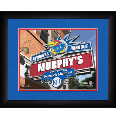 Kansas Jayhawks Personalized Pub Print | Get Letter Art | KANPUB