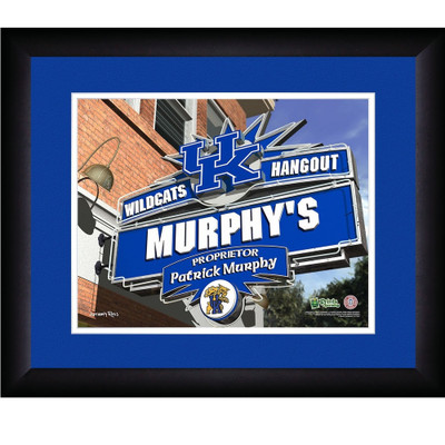Kentucky Wildcats Campus Personalized Pub Print