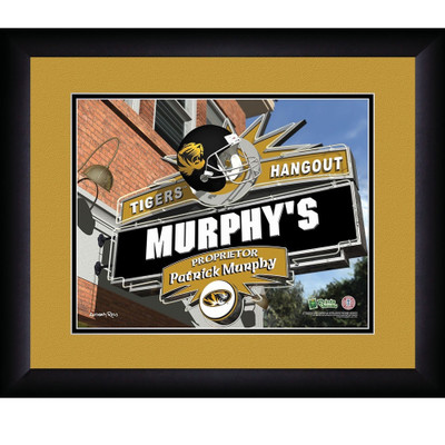 Missouri Tigers Personalized Pub Print