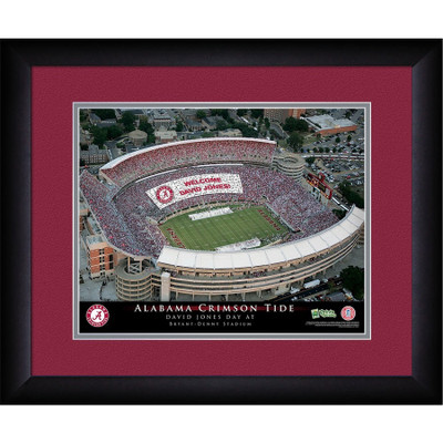 Alabama Crimson Tide Personalized Stadium Print