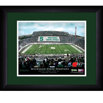 Michigan State Spartans Personalized Stadium Print