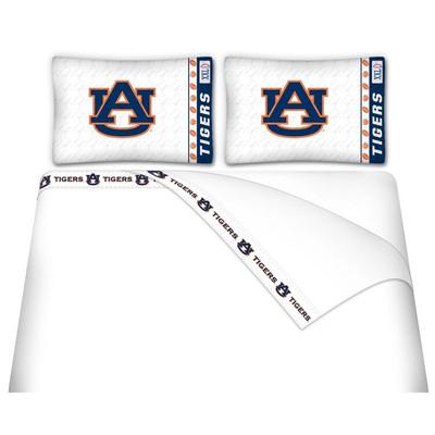 Auburn Tigers Microfiber Sheet Set