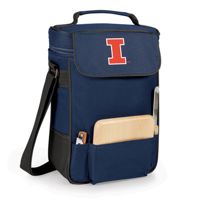 Illinois Fighting Illini Duet Wine and Cheese Picnic Tote | Picnic Time | 623-04-138-212-0-1