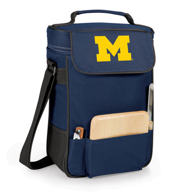Michigan Wolverines Duet Wine and Cheese Picnic Tote | Picnic Time | 623-04-138-342-0-1