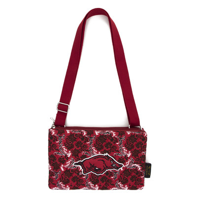 Arkansas Razorbacks Quilted Cotton Crossbody Purse