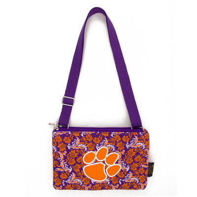 Clemson Tigers Quilted Cotton Crossbody Purse