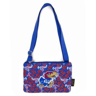 Kansas Jayhawks Quilted Cotton Crossbody Purse