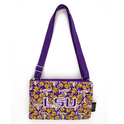 LSU Tigers Quilted Cotton Crossbody Purse