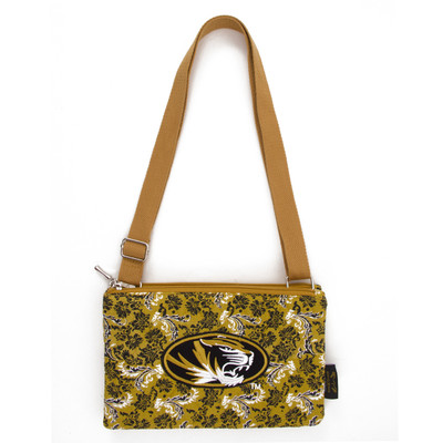 Missouri Tigers Quilted Cotton Crossbody Purse