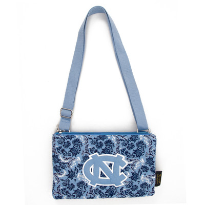 UNC Tar Heels Quilted Cotton Crossbody Purse