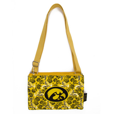 Iowa Hawkeyes Quilted Cotton Crossbody Purse