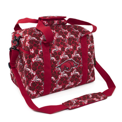 Arkansas Razorbacks Quilted Cotton Mini Duffle Bag