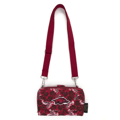 Arkansas Razorbacks Quilted Cotton Cross Body Wallet