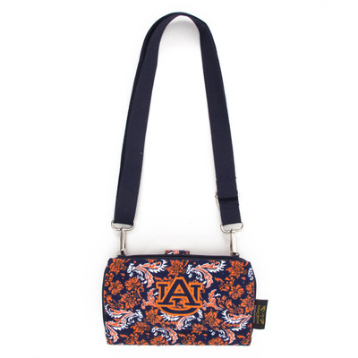 Auburn Tigers Quilted Cotton Cross Body Wallet