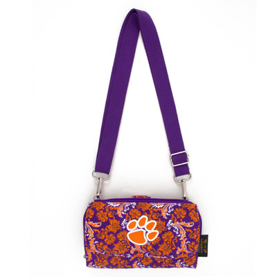 Clemson Tigers Quilted Cotton Cross Body Wallet