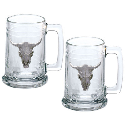 Longhorn Stein Set of 2