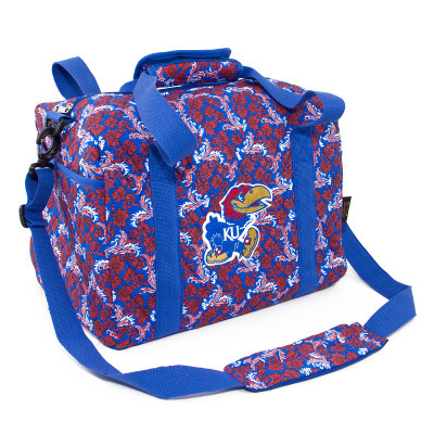 Kansas Jayhawks Quilted Cotton Mini Duffle Bag