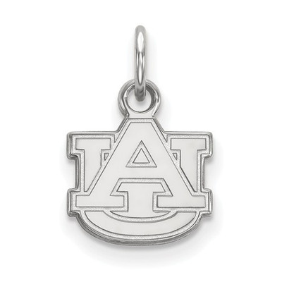 Auburn Tigers AU Logo Sterling Silver Pendant