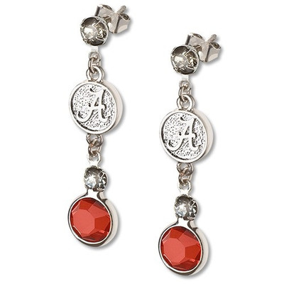 Alabama Crimson Tide Crystal Logo Earrings