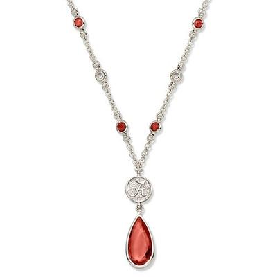 Alabama Crimson Tide Crystal Logo Necklace