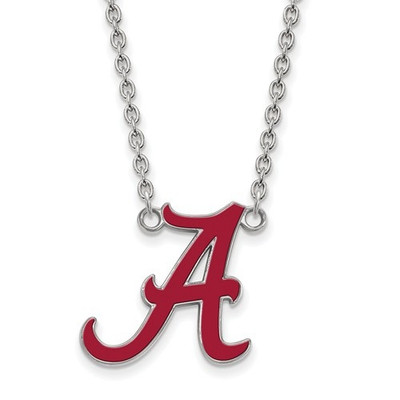 Alabama Crimson Tide A Sterling Silver Enamel Necklace