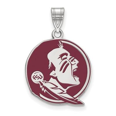 FSU Seminoles Sterling Silver Enamel Pendant