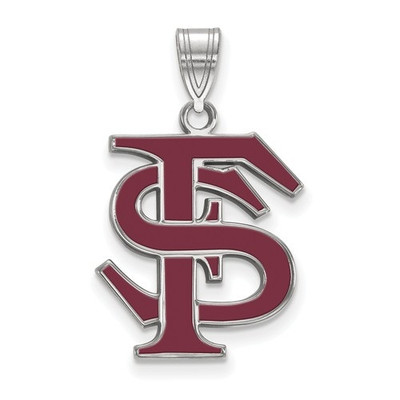 FSU Seminoles Sterling Silver Enamel FSU Pendant