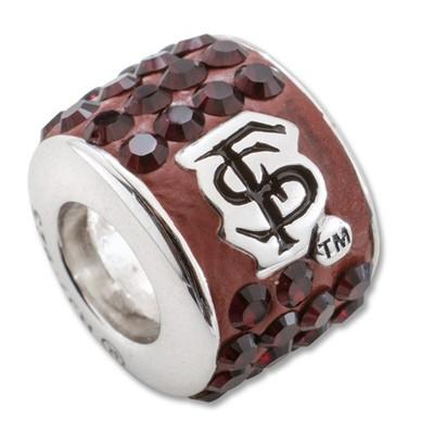 FSU Seminoles Sterling Silver Bracelet Bead Charm