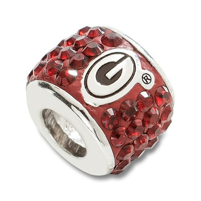 Georgia Bulldogs Sterling Silver Bracelet Bead Charm | Logo Art | UGA070CHM-SS