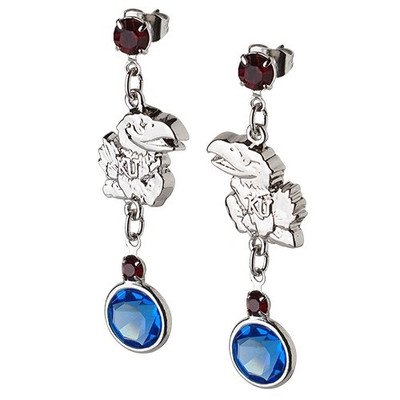 Kansas Jayhawks Crystal Logo Earrings