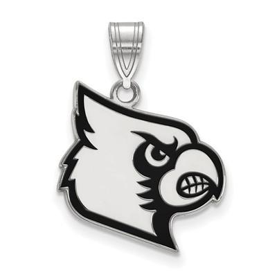 Louisville Cardinals Sterling Silver Enamel Pendant