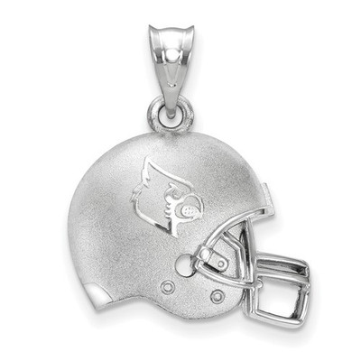 Louisville Cardinals Sterling Silver 3D Football Helmet Pendant